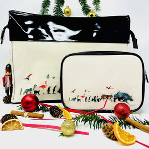 Clare Brownlow Tote Bag and Cosmetic Bag Gift Bundle