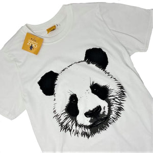 Men's Panda Face T-shirt - White