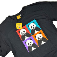 Load image into Gallery viewer, Men's Panda Pop Squares Design T-shirt - Black