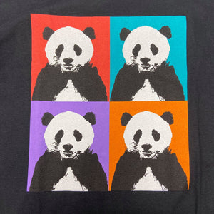 Men's Panda Pop Squares Design T-shirt - Black