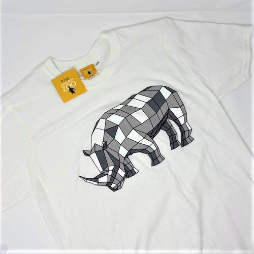 Men's Rhino Origami Design T-shirt - White