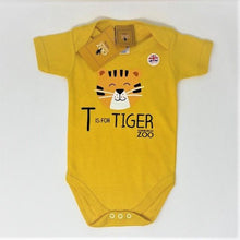 Load image into Gallery viewer, Tiger Body Suit 18-24 Months and Animal Soft Ball Bundle