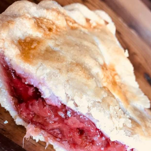 Half Pie - Strawberry Rhubarb with Oat Crumble