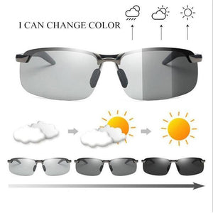Photochromic Sunglasses with Polarized Lens for Outdoor 100% UV Protection, Anti Glare, Reduce Eye Fatigue