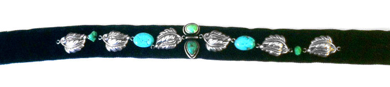 JEWELED HEADBAND : Turquoise & Sterling Silver