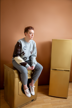 Load image into Gallery viewer, Change Makeair Reworked Unisex Nike Grey Sweatshirt 1