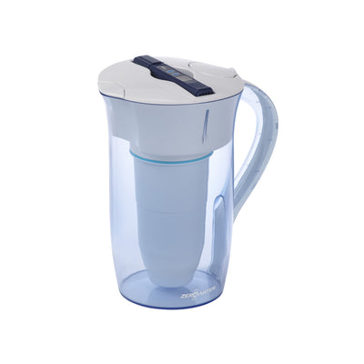 10 Cup Circular Water Filter Pitcher with TDS Meter | ZeroWater