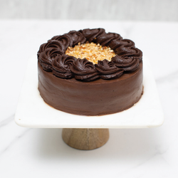 Belgian Chocolate & Caramel Fudge Cake