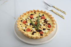 Caramelised onions & goat cheese quiche
