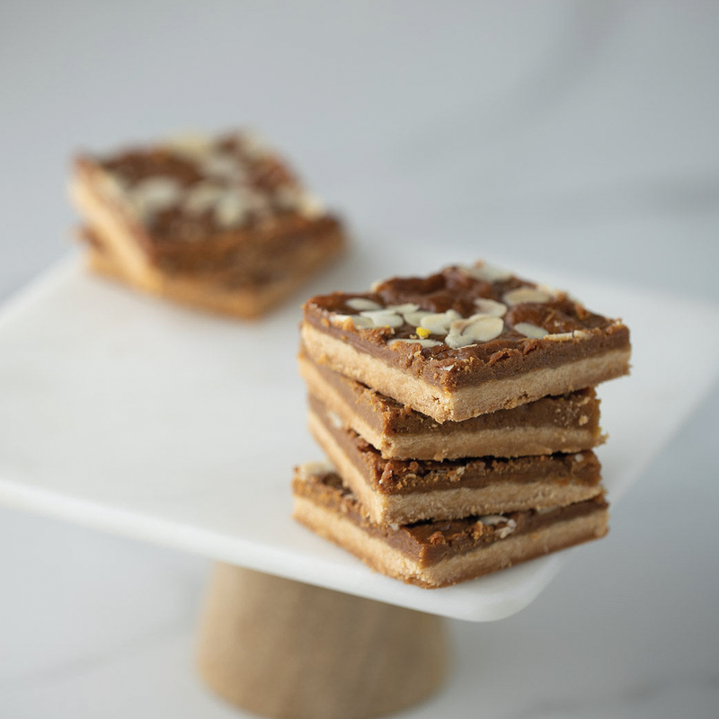 Toffee & Almond Squares