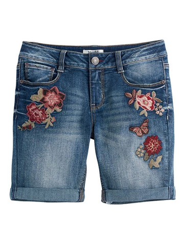 High Boho Embroidery Summer Shorts