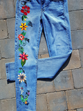 Summer Boho Embroidered Jeans