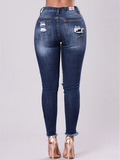 High-rise Stretch-embroidered Jeans