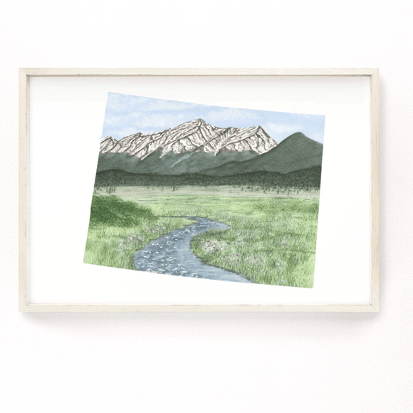 Colorado Watercolor Painting, Colorado Art, Colorado Gift, Colorado Souvenir, Mount Elbert Print - Emilie Taylor Art