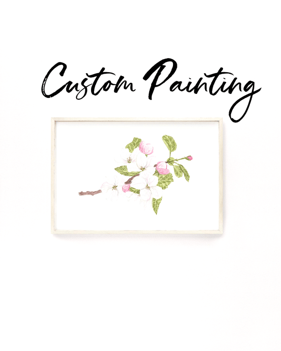 Custom Watercolor Subject Print, Custom Flower Art, Custom Fruit, Custom Painting gift - Emilie Taylor Art