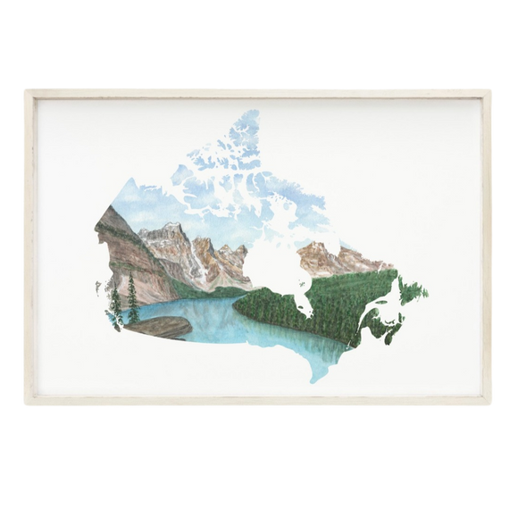 Canada Watercolor Painting, Canada Art, Banff National Park, Moraine Lake, Canada Country Print