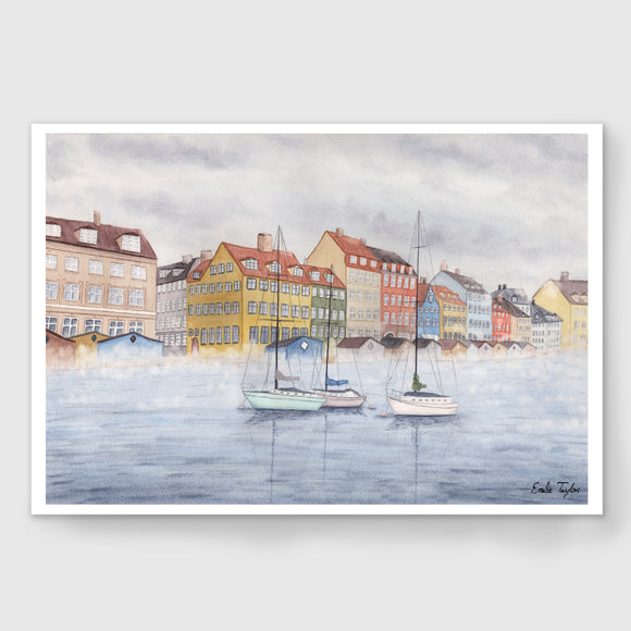 Misty Morning in Copenhagen Limited Edition Print