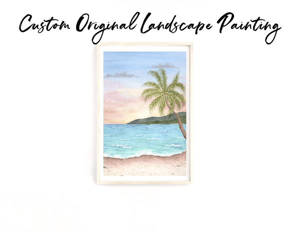 Custom Watercolor Landscape Original Painting, Custom Landscape Art, Custom Painting gift - Emilie Taylor Art