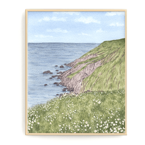 Ireland Watercolor Painting, Ireland Print, Ireland Gift, Ireland Art Souvenir, Irish Seascape - Emilie Taylor Art