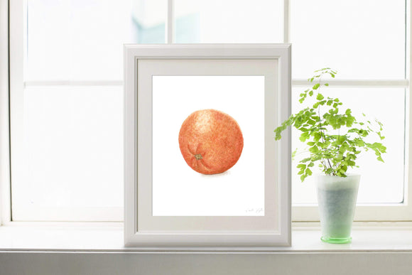 Watercolor Orange Painting, Kitchen Art, Dining Room Decor, Fruit Painting, Watercolor oranges - Emilie Taylor Art