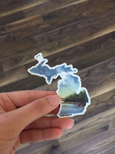 Michigan Decal, Watercolor Michigan Sticker, MI Car Decal, State Decal, State Sticker, MI Sticker - Emilie Taylor Art