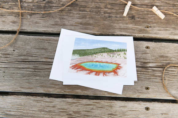 Wyoming Greeting Card, Wyoming Notecard, Wyoming Souvenir, WY Card, Watercolor State Card - Emilie Taylor Art