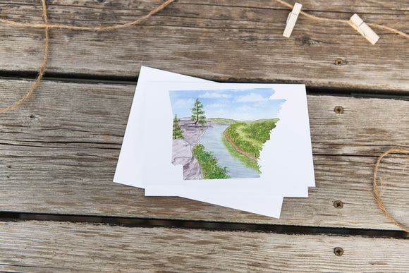 Arkansas Greeting Card, AR State Gift, Arkansas Travel Card, Arkansas Souvenir, Arkansas Gift - Emilie Taylor Art