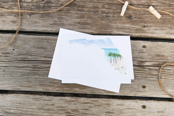 Florida Greeting Card, FL State Gift, Florida Travel Card, Blank Card, Florida Souvenir, FL Gift - Emilie Taylor Art
