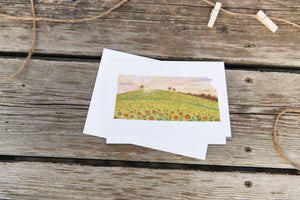 Kansas Greeting Card, Kansas Notecard, Kansas Art Souvenir, KS Greeting Card, Watercolor State Card - Emilie Taylor Art
