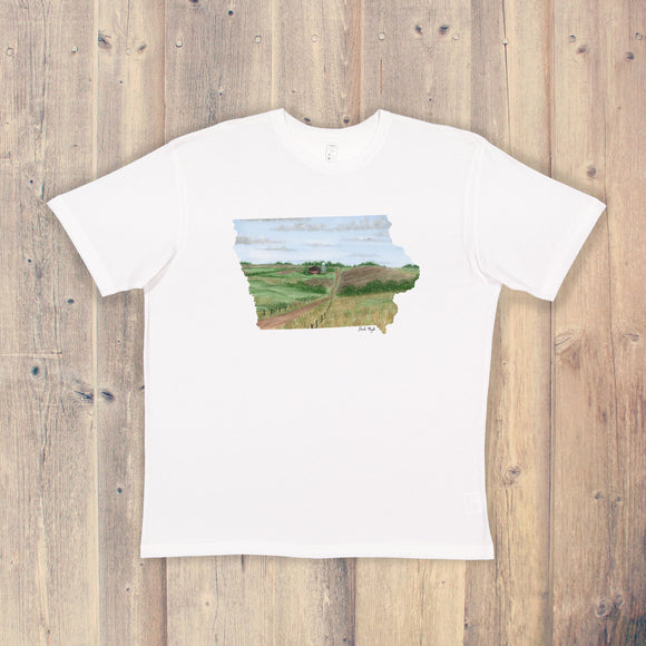 Iowa T-shirt | Iowa Tee | Home State Shirt |  Iowa Pride Shirt | Farmland in Iowa Art