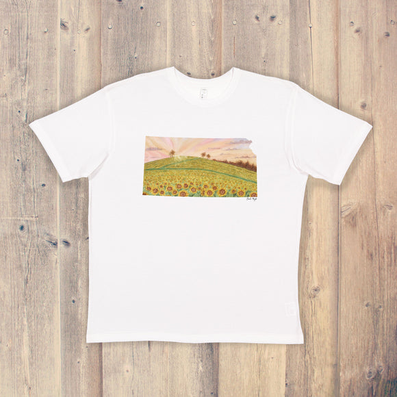 Kansas T-shirt | Kansas Tee | Home State Shirt |  Kansas Pride Shirt | Sunflower State | Kansas Sunflower Field