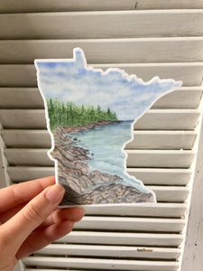 Large Minnesota Decal, Watercolor Minnesota Sticker, MN Car Decal, MN  State Decal, State Sticker - Emilie Taylor Art