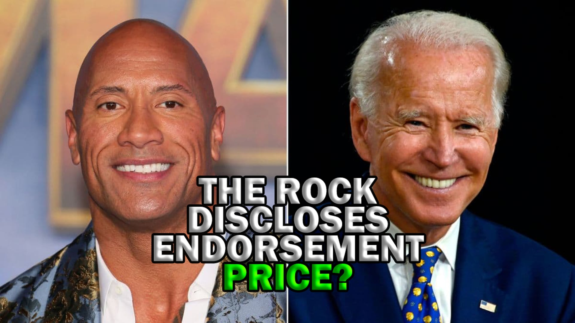 The Rock aka DJ Discloses The Price Tag for His Presidential Endorsement