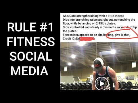 The First Rule of Fitness Social Media