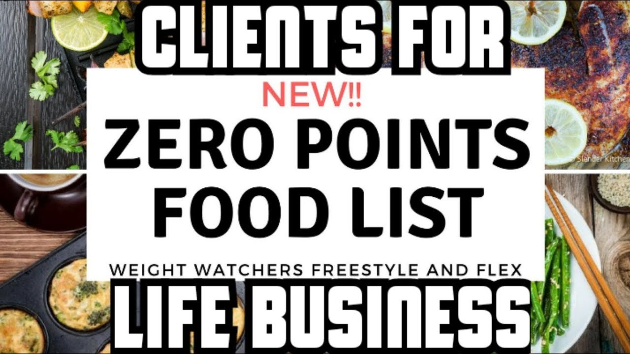 Weight Watcher and Zero Point Food Items- A Client For Life Business_