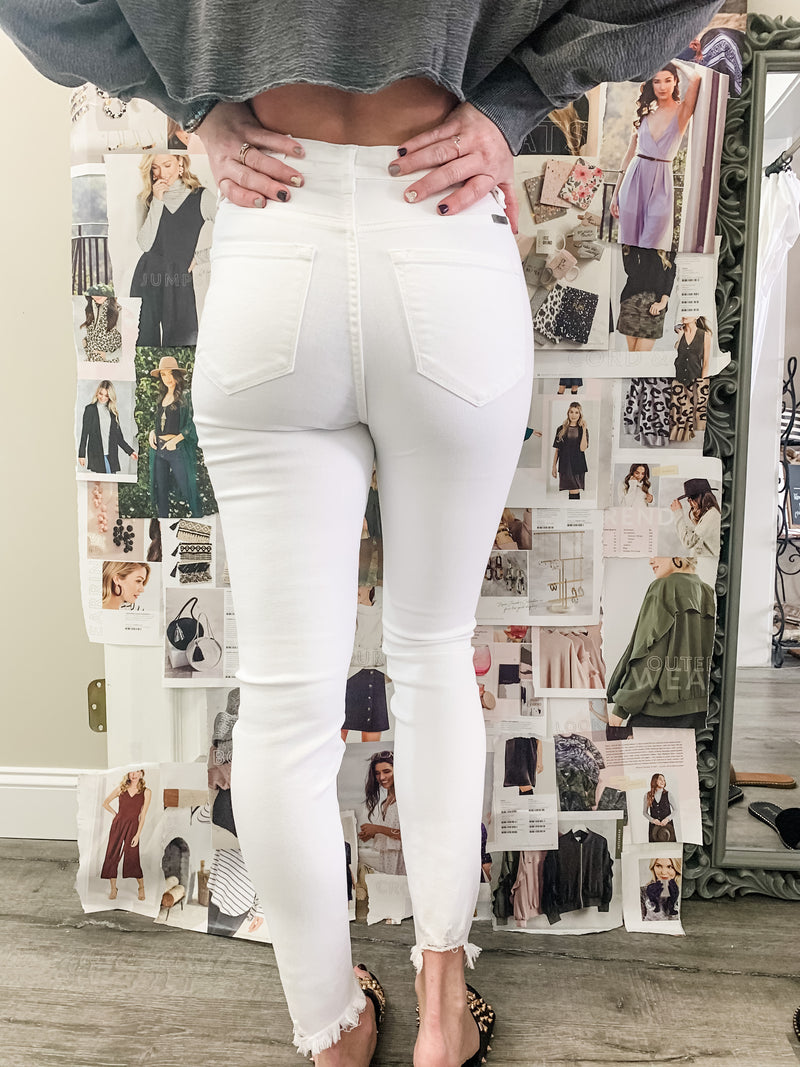 B Super High Rise Super Skinny Jeans | White