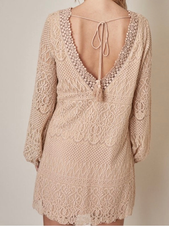 Lay Low-Back Lace Dress