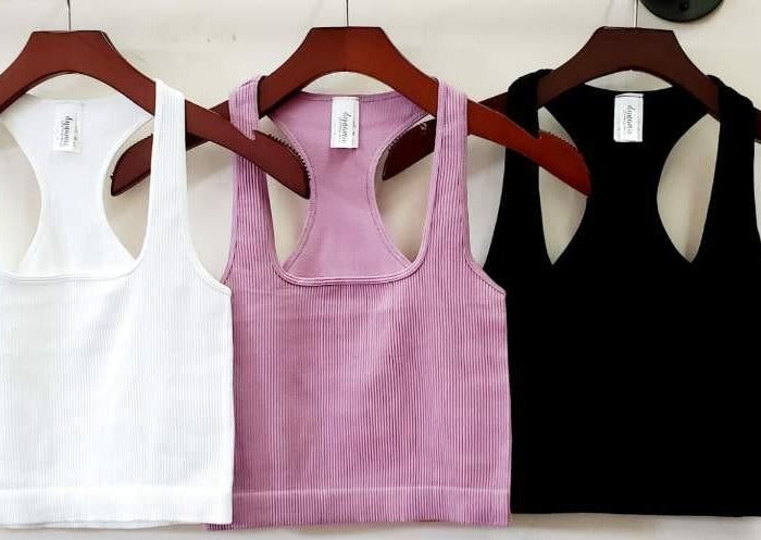 So Fresh Square Neck Crop Tank