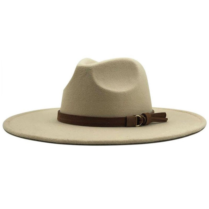 Autumn Days Wide Brim Hat-Beige