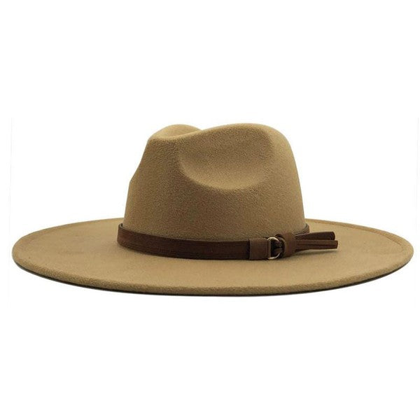 Autumn Days Wide Brim Hat-Light Khaki