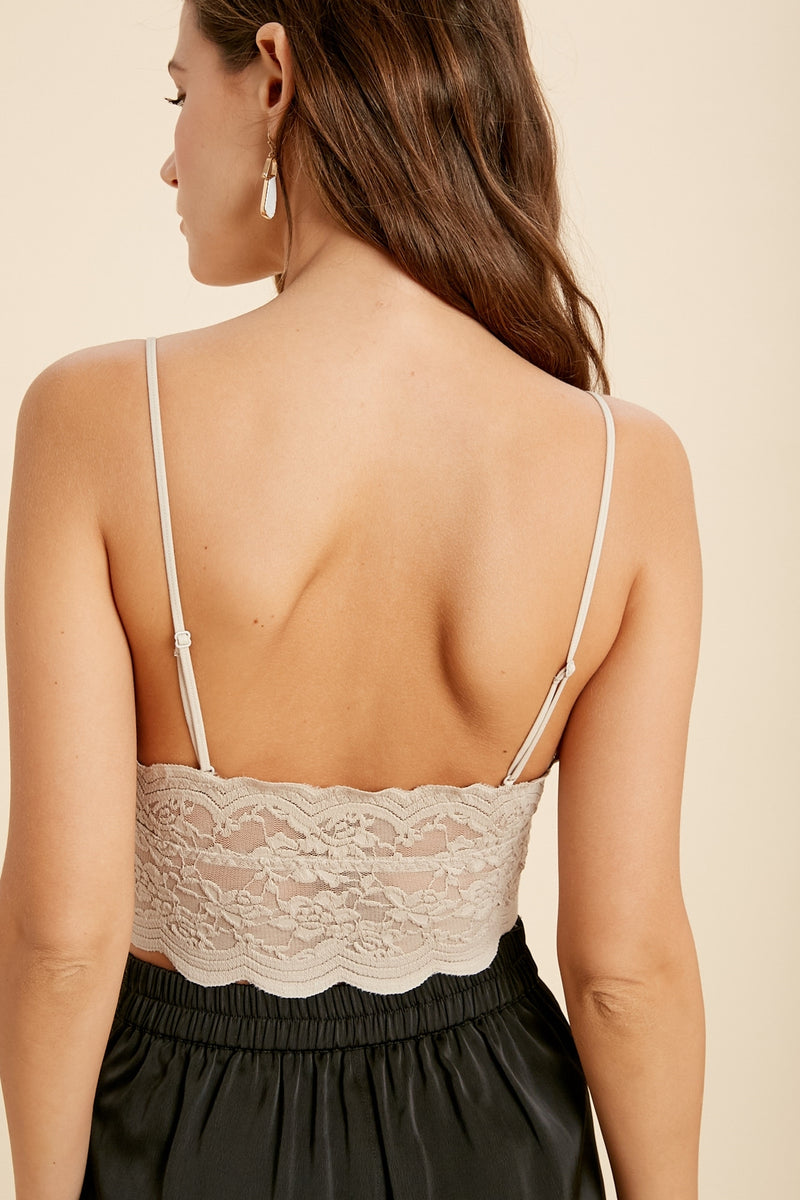 This Is It Bralette: Champagne