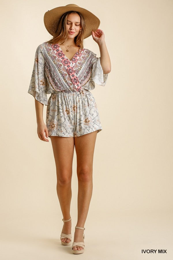 The Paisley Print Romper