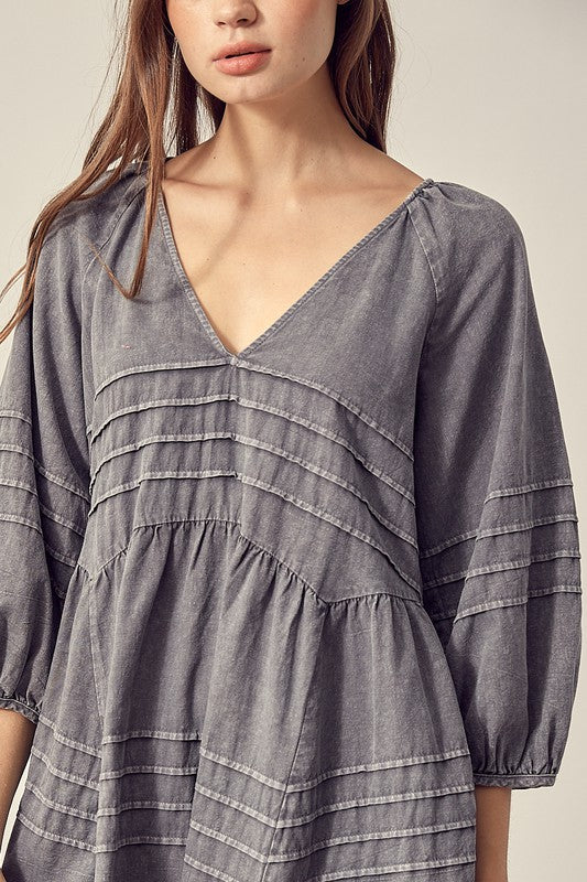 Washed Memories Tunic: Silver