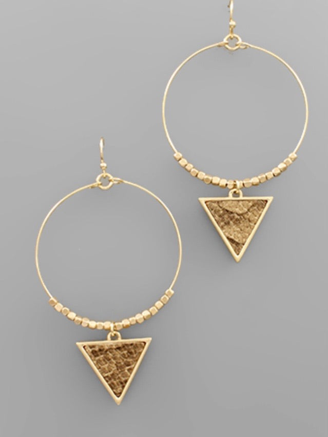 Triangle Snake Earrings