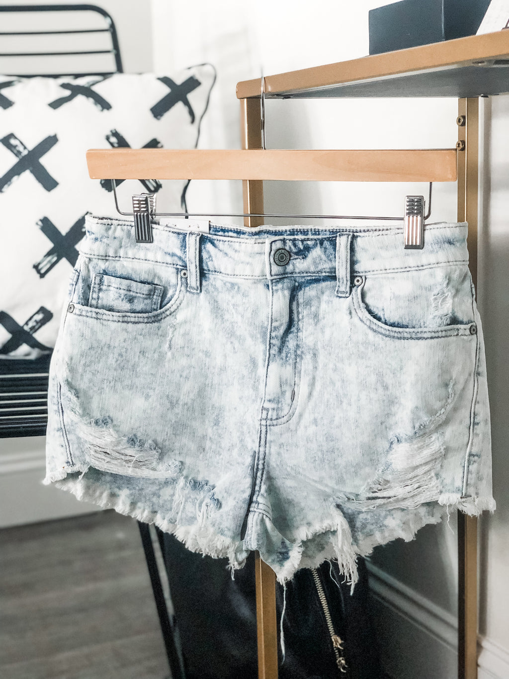 Daisy Dukes Light Wash Shorts