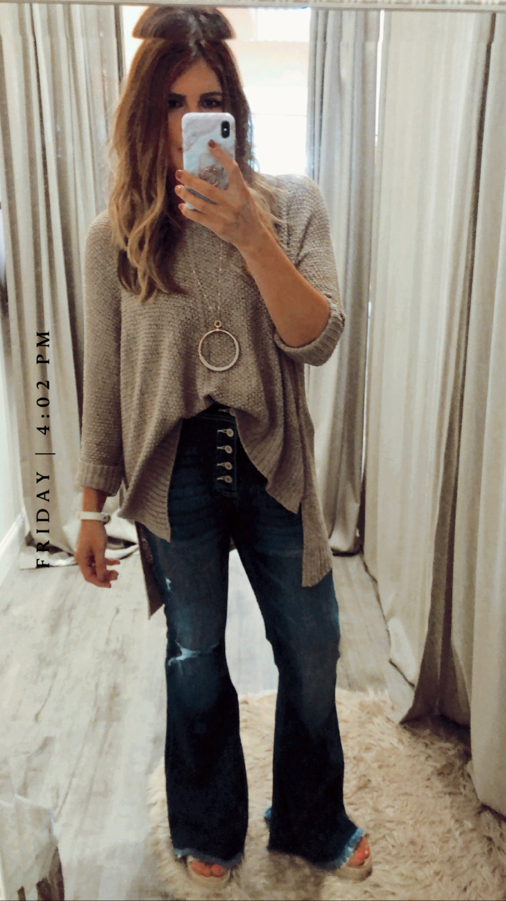Girl Boss Fringe Jeans