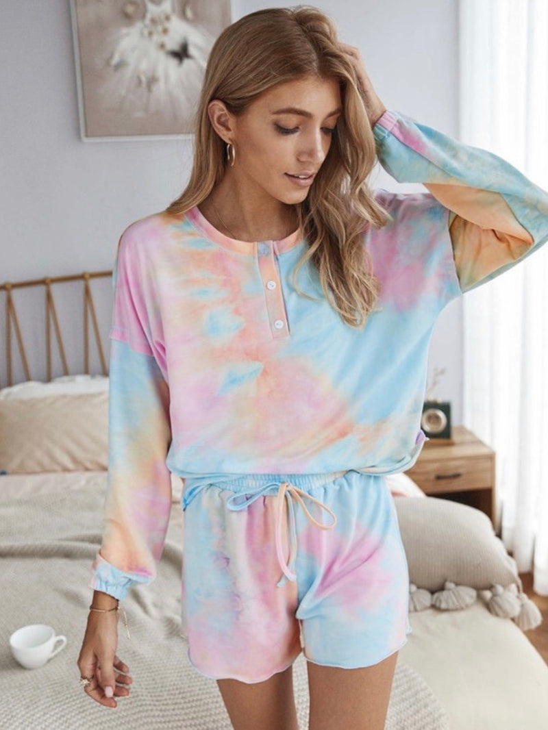 Cotton Candy Dreams Tie Dye Lounge Set