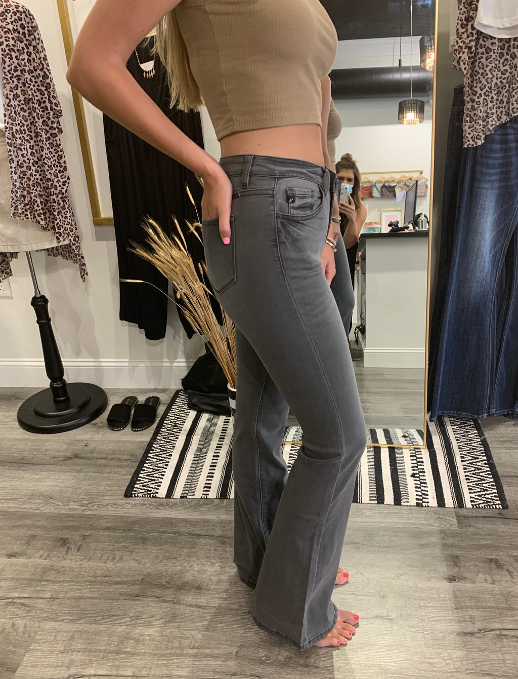 The Becca Black Flare Jeans