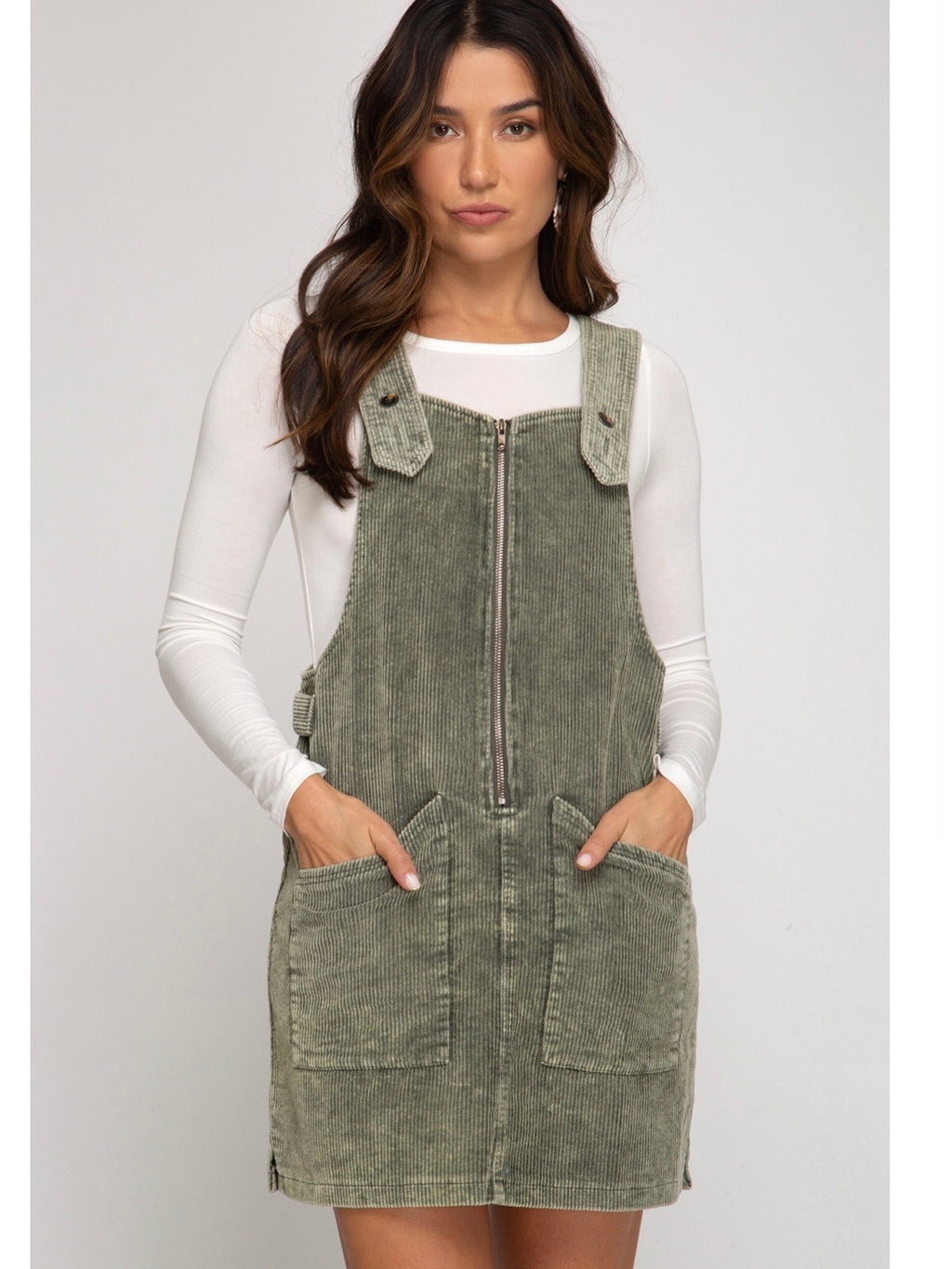 FALLing In Love Corduroy Overall Mini Dress