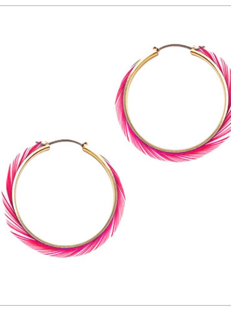 Light As A Feather Hoops: Pink